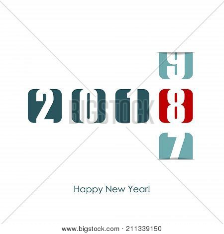2018 New Year counter. Holiday vector illustration.