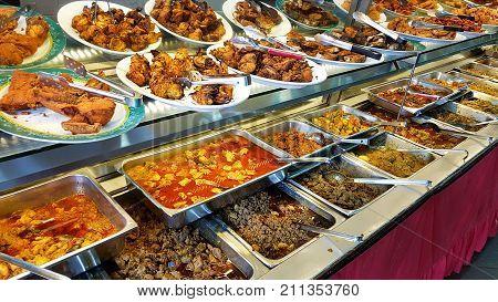 Self service pakistani and indian food restaurant