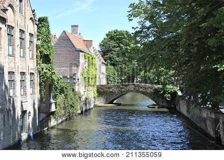 View from the canals, nice image of medival beauty