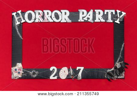 Handmade Creation Photo Booth For Horror Party 2017