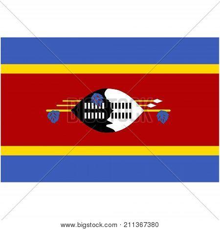 Swaziland Flag Vector