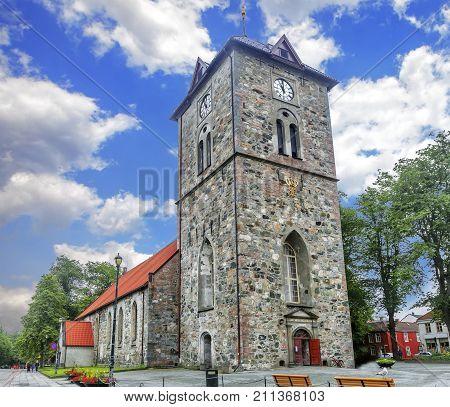 Var Frue Church In Trondheim. Norway.