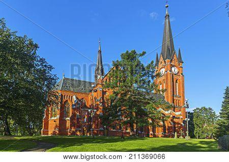 Gustav Adolf Church Is A Parish Church In  Sundsvall. Sweden.