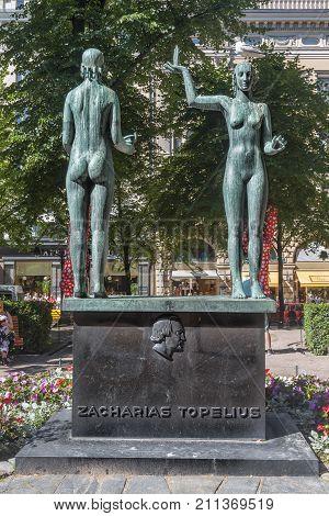 HELSINKI FINLAND - JULY 16 2016: Sculpture