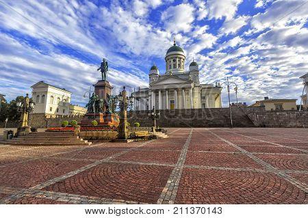 Senate Square (senaatintori) In Helsinki, Finland.