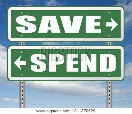 save for later plan ahead saving money in piggy bank savings now and spend later after crisis 3D, illustration