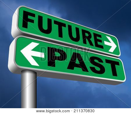 past future prediction and forecast near future fortune telling and forecast evolution and progress  3D, illustration