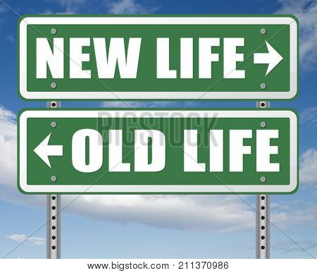 new and old life new beginning or start again last chance for you by remake or makeover 3D, illustration