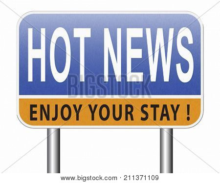 latest hot and breaking news items 3D, illustration