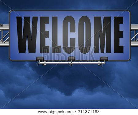 welcome home or a warm welcoming to our shop, the doors are open for visitors, this is and invitation and shows hospitality 3D, illustration