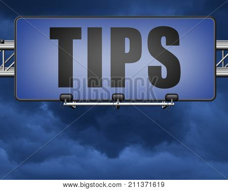 tips helpful tip and trick hot idea clue and user tricks 3D, illustration