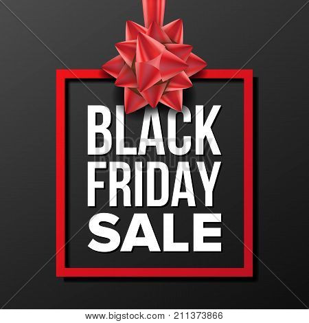 Black Friday Sale Banner Vector. Big Super Sale. Cartoon Business Brochure Illustration. Design For Black Friday Banner, Brochure, Poster, Discount Offer