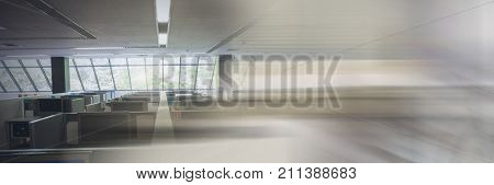 Digital composite of office with transition