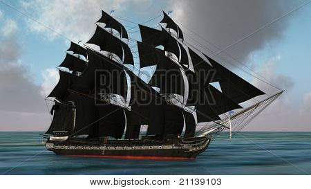 ship with black sales - not in shadow