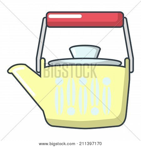 Family kettle icon. Cartoon illustration of family kettle vector icon for web