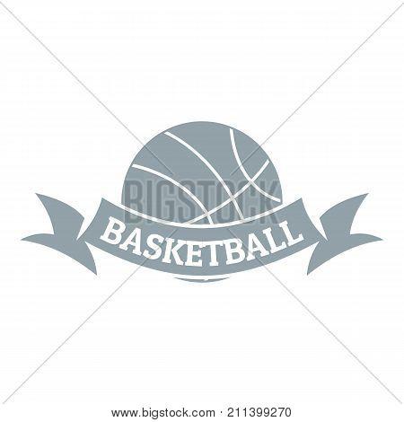 Basketball logo. Simple illustration of basketball vector logo for web
