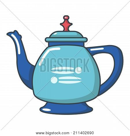 Coffee kettle icon. Cartoon illustration of coffee kettle vector icon for web