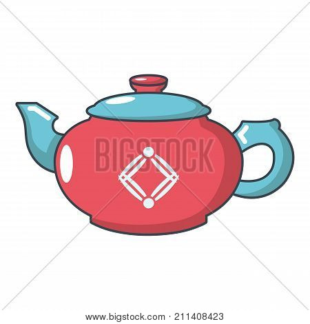 Small kettle icon. Cartoon illustration of small kettle vector icon for web