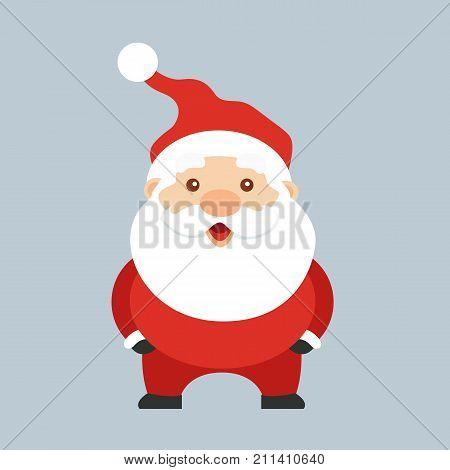 Santa Claus. Cute cartoon santa claus. Merry Christmas concept. Vector stock.