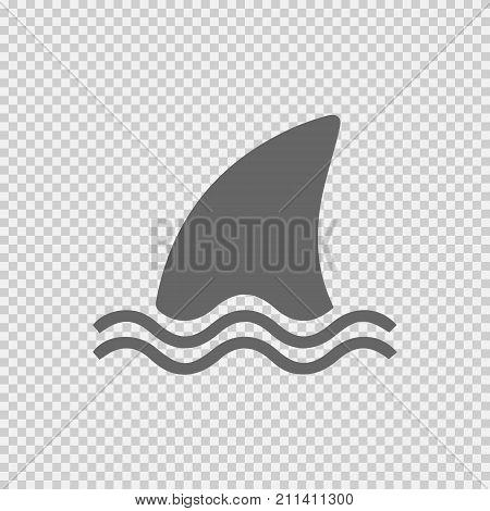Shark fin vector icon eps 10. Simple isolated illustration.