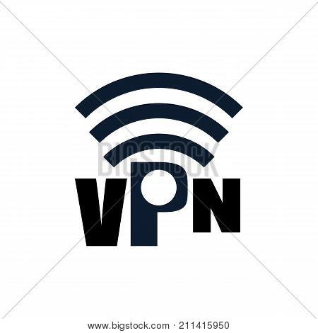 VPN icon. isolated Vector illustration. Eps 10.