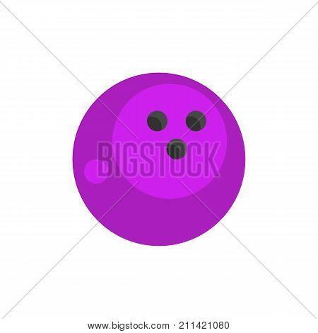 Icon of bowling ball. Game, winning, activity. Bowling concept. Can be used for topics like sport, competition, tournament