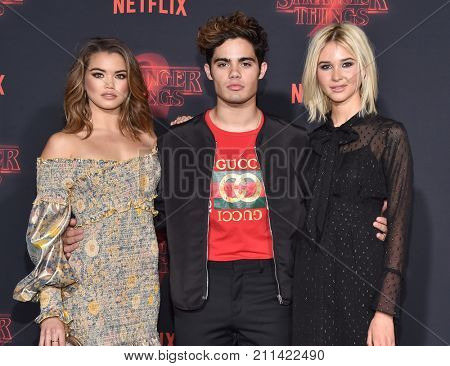 LOS ANGELES - OCT 26:  Paris Berelc, Emery Kelly and Isabel May arrives for the