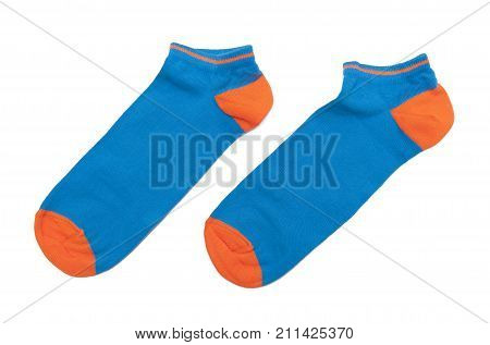 Colorful socks isolated on the white background