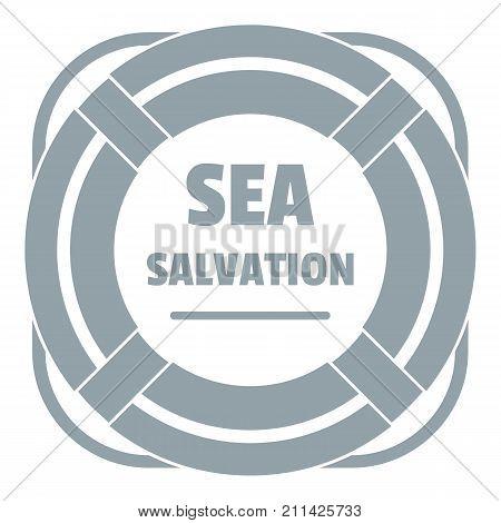 Sea salvation logo. Simple illustration of sea salvation vector logo for web