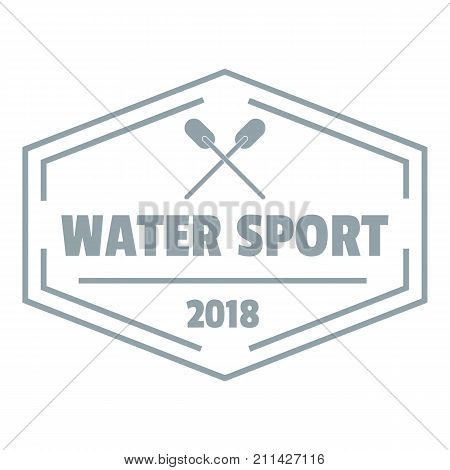 Water sport logo. Simple illustration of water sport vector logo for web