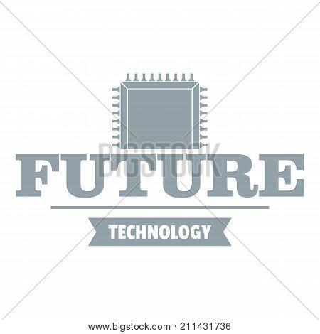 Future cpu logo. Simple illustration of future cpu vector logo for web