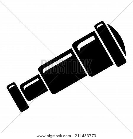 Spyglass icon. Simple illustration of spyglass vector icon for web
