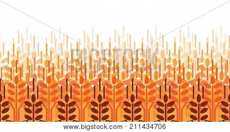 Wheat ears seamless pattern. Vector agriculture background. Wheat field