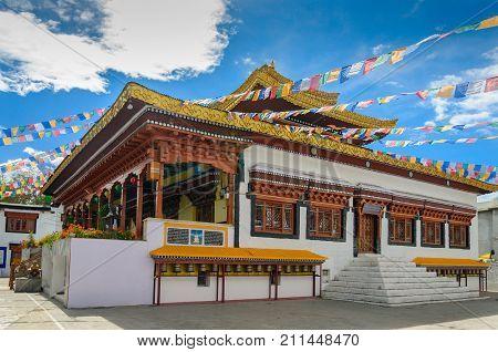 Tibetan traditional Monastery in Leh Ladakh, India