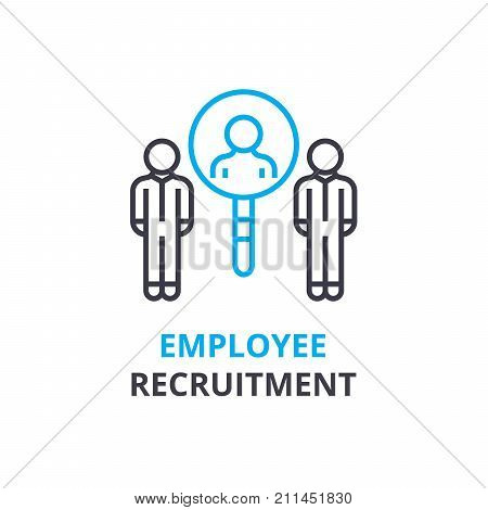 Eployee recruitment concept , outline icon, linear sign, thin line pictogram, logo, flat illustration, vector