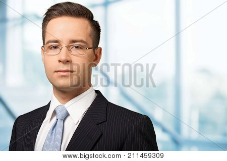 Business man businessman glasses young adult man face background