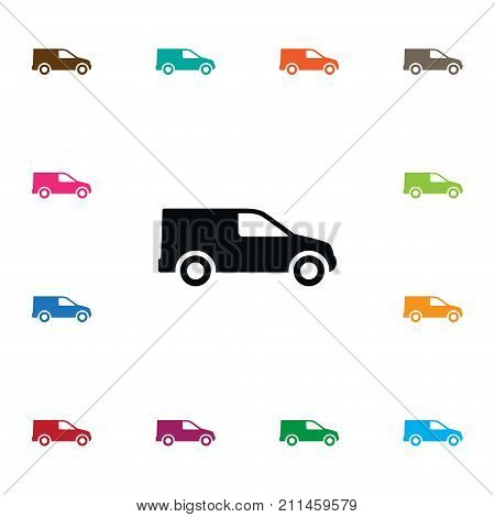 Van Vector Element Can Be Used For Van, Truck, Shipping Design Concept.  Isolated Shipping Icon.