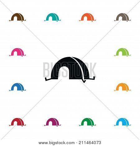 Tourist Vector Element Can Be Used For Tourist, Shelter, Tent Design Concept.  Isolated Shelter Icon.