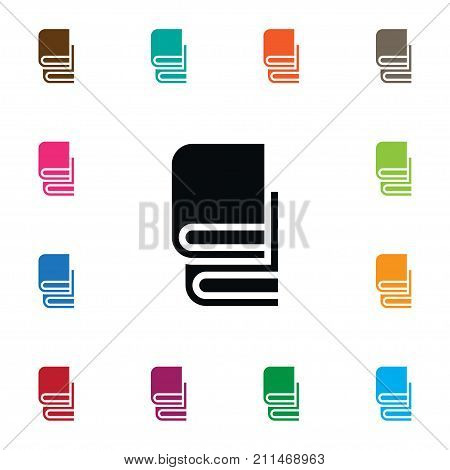 Bookstore Vector Element Can Be Used For Bookshelf, Bookstore, Library Design Concept.  Isolated Book-Rack Icon.