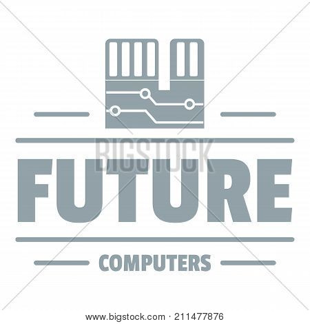Future computers logo. Simple illustration of future computers vector logo for web