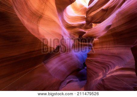 Light Beam Through Lower Antelope, Page, Arizona