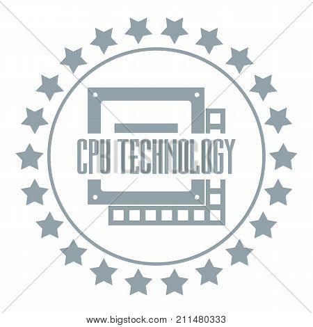 Cpu technology logo. Simple illustration of cpu technology vector logo for web