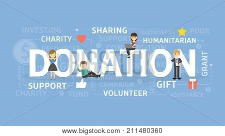 Donation concept illustration. Idea of gift, support and charity.