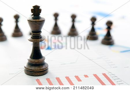 Chess Business Team Leader Concept