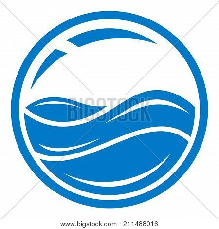 Aqua window icon. Simple illustration of aqua window vector icon for web