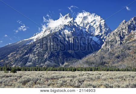 Grand Teton After First Snow