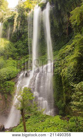very beautiful waterfall of. Bali island. Indonesia.