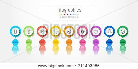 Infographic design elements for your business data with 9 options parts steps timelines or processes. People's communication concept Vector Illustration.