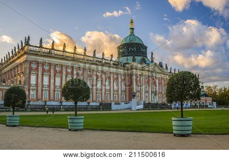 Potsdam,Germany-October 2017:castle in sanssouci park, Potsdam, Germany