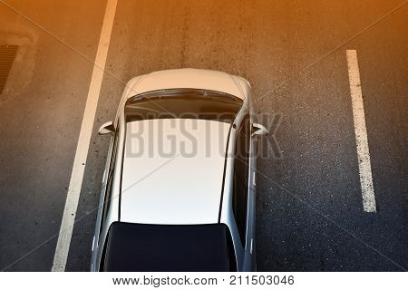 Car parked on the road,Car parked on the street,Car driving on road